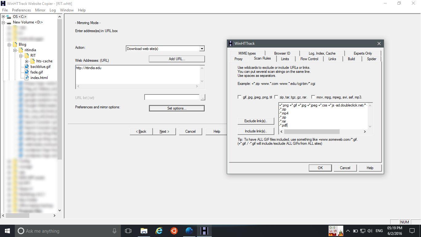 Filtering Files