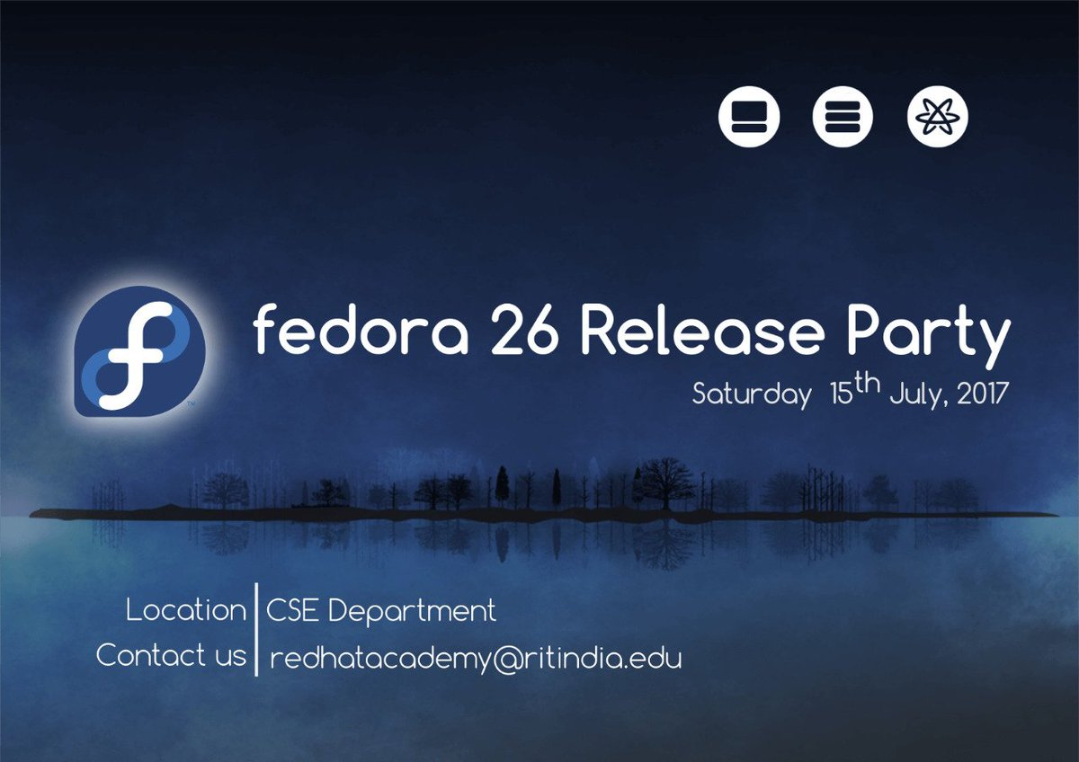 Fedora 26 party invitation